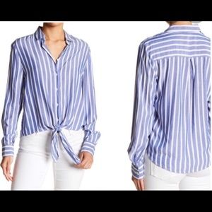 Beach Lunch Lounge striped button down shirt Med